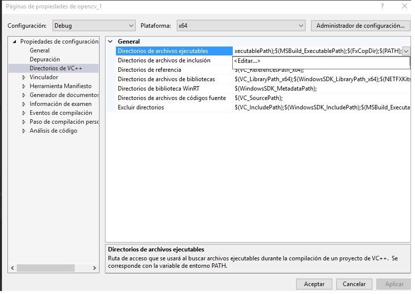 Como hacer una plantilla de proyectos Visual - OpenCV ...